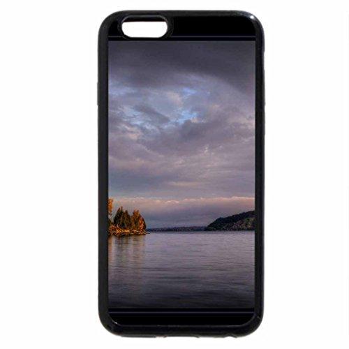 iPhone 6S Case, iPhone 6 Case (Black & White) - Moosehead Lake Rockwood