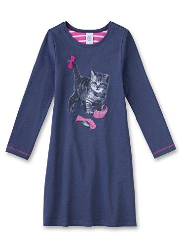 Sanetta Mädchen Nachthemd 231821, Blau (Admiral 5374), 128