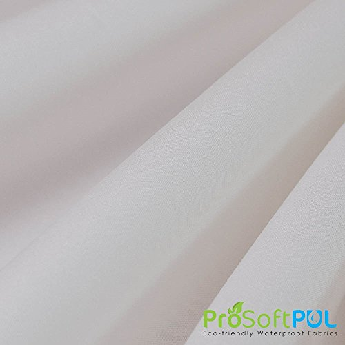 ProSoft Waterproof 1 mil PUL Fabric (Made in USA, Natural White, sold by the yard)