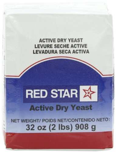 Red Star Active Dry Yeast, 2-Pound Pouches (Pack of 2)