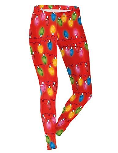 乱暴な解く占めるレディース Xmas Pencil pants ストレッチ スリム カジュアル フィットネス タイトなレギンス - クリスマス 柄 ヨガ パンツ 吸汗速乾, Size S,M,L,XL [Zhhlaixing]