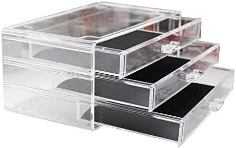 SMEJS Clear Cosmetic Storage Organizer - Organisieren Sie ganz einfach Kosmetik, Schmuck und Haarschmuck.Sieht elegant aus, wenn Sie auf Ihrem Waschtisch, Ihrer Badezimmer-Theke oder Ihrer Kommode sit