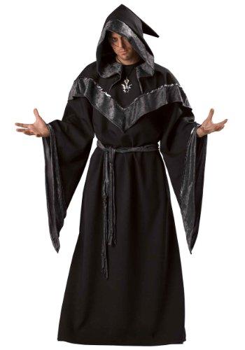 InCharacter Costumes Men's Dark Sorcerer Full Length Robe, Black, X-Large