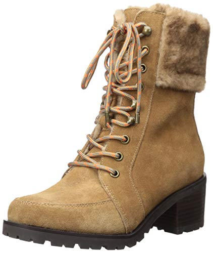 Aerosoles Women's GET Going Combat Boot, Camel Combo, 6 M US