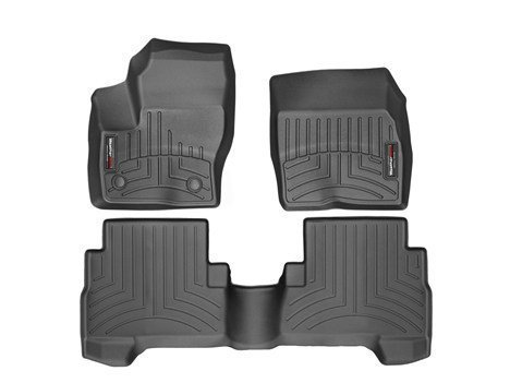 2013-2016 Ford Escape-Weathertech Floor Liners-Full Set (Includes 1st and 2nd Row) Black