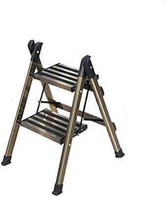 OhLt-j Taburete Plegable, Escalera de taburetes, Hogar Escalera pequeña multifunción Escalera de Tres Pasos con Tres Pasos Escalera Plegable Interior (Color: Oro, Tamaño: 47 * 62 * 89 cm): Amazon.es: Hogar