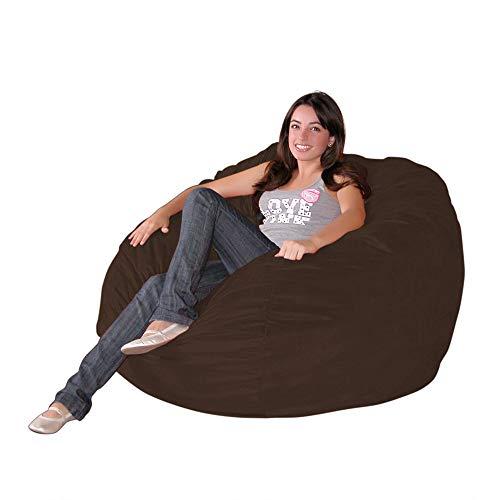 Cozy Sack 3-Feet Bean Bag Chair, Medium, Chocolate - Leather Bean Bag