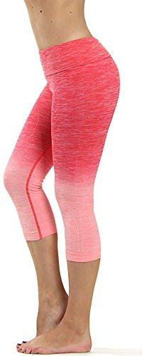prolific-health-fitness-power-flex-yoga-pants-leggings-all-colors-xs-xl-large-capri-ombre-coral