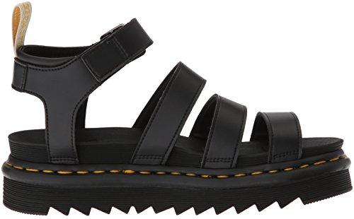 Off 001 and Rub Women's Dr V Black Martens Blaire Sandals Ankle Soft Pu Strap Felix Black Black xaPAaHw7