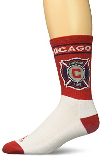 adidas MLS Chicago Fire Men's Team Name & Logo Crew Socks, Size 9-11, Red
