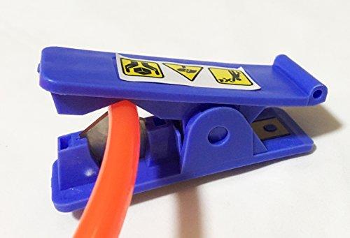 "Drip Tubing Cutter PVC Nylon Plastic Rubber Air Hose Cutting up Scissor to 1/2"" OD, Blue, (Suspension Hose)"