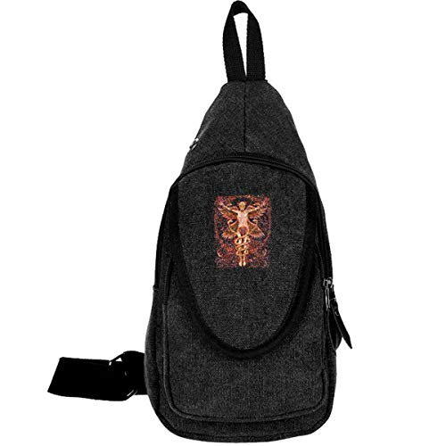 Puscifer Crossbody Sling Bag Casual Outdoor Chest Bag With Headphone Jack Port For Men
