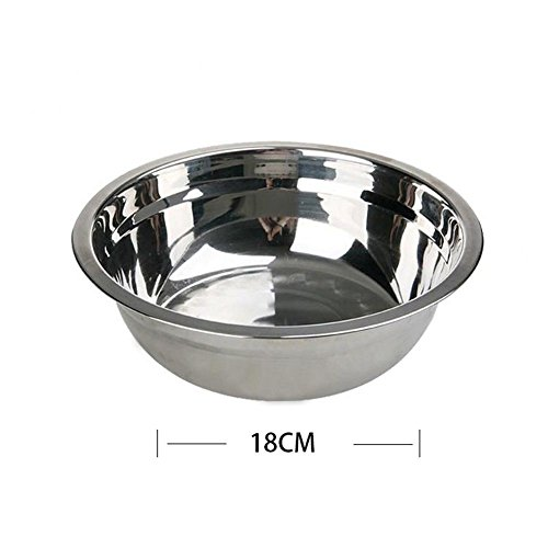 Pro Kids Baby Large Wide Stainless Steel Flat Rim Flat Base Mixing Bowl- 18 cm (Cm Bowl 18)