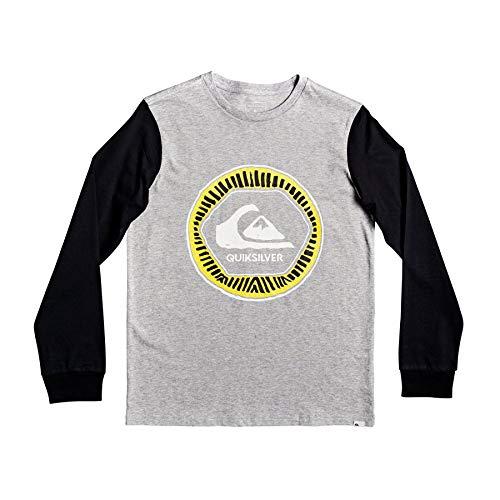 QUIKSILVER Solar Sun Boys Long Sleeve T-Shirt Medium Athletic Heather