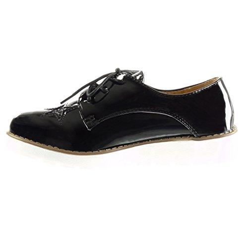 di Paillette Scarpa Suola Derby 3 Angkorly Donna Stella 5 Sneaker Lucide cm Nero Tacco Moda Zeppa Scarpe HwWXz