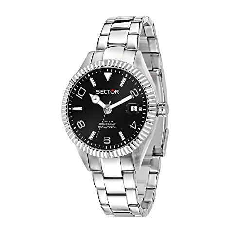 SECTOR Men's 245 Analog-Quartz Stainless-Steel Strap, Silver, 18 Casual Watch (Model: R3253486013