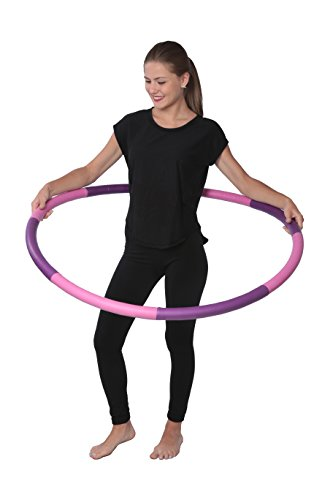 DG Sports 3 Pound Weighted Hula Hoop - Ideal for Aerobics Workouts, Hot Fitness & Weight Loss Exercise - Comes Apart for Easy Storage