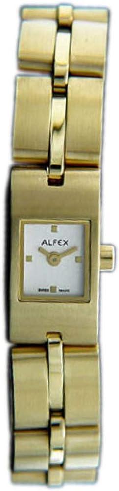 ALFEX 5452 - Reloj de Pulsera analógico para Mujer con Mecanismo de Cuarzo y Correa de Acero Inoxidable