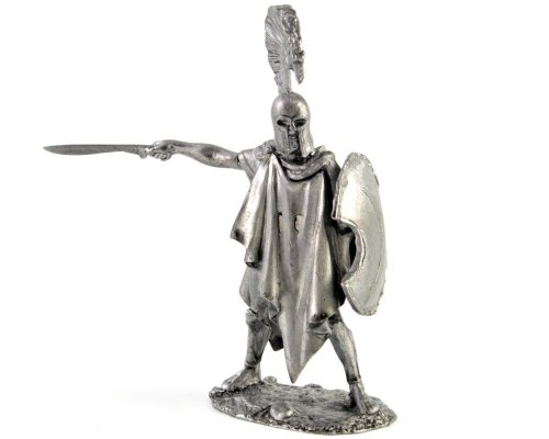 Macedonian, 4th century BC metal sculpture. Collection 54mm (scale 1/32) miniature figurine. Tin toy soldiers ()