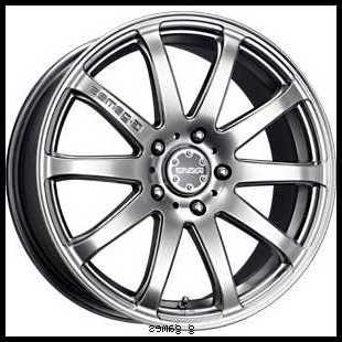18x7.5 Rays G-Games et42 77S sidewinder Perfect SIlver 4x114.3 (set of 4 wheels) rims (Rays Rims)