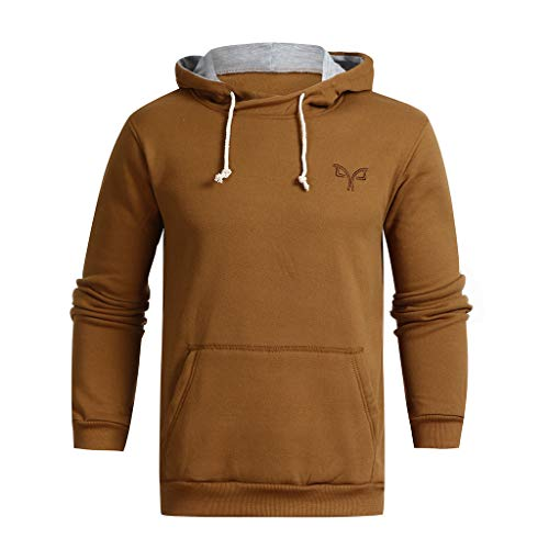 SFE-Mens-Shirts Fashion Hoodies, Men's Autumn Winter Casual Hooded Pocket Pullover Outwear Tops Blouse (Chart Autumn)
