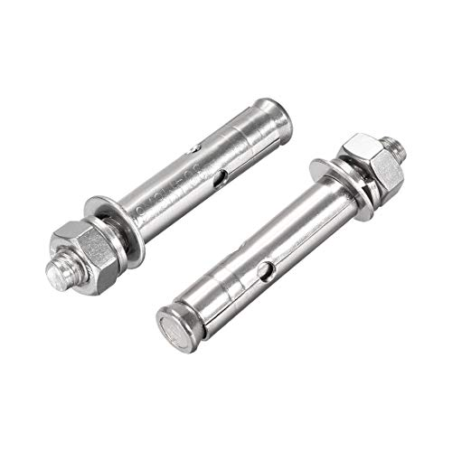 uxcell M8x80mm 304 Stainless Steel External Hex Expansion Bolt Sleeve Anchor 2Pcs