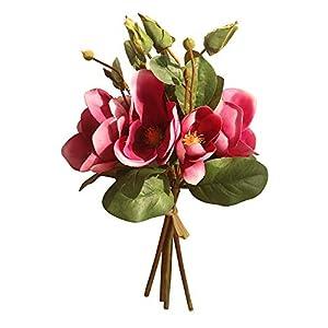 MARJON FlowersArtificial Fake Flowers Magnolia Bouquet Leaf for Home Decor Wedding Party Garden Coffee Office 53