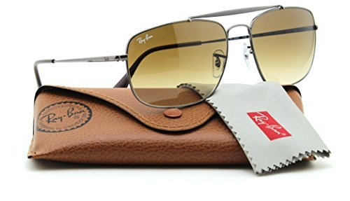 Ray-Ban RB3560 004/51 COLONEL Men Gradient Aviator Sunglasses (Crystal Brown Sunglasses)