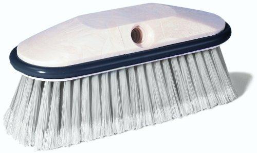 Wilen K001000, Nylon Flagged Vehicle Washer Brush with 9'' Foam Handle, White Bristle (Case of 12)