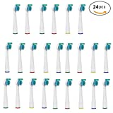 V-Bay Premium Replacement Toothbrush Heads for Philips Sensiflex HX2014(HX2012) Standard Size Toothbrushes, 24 Count(6-Pack).