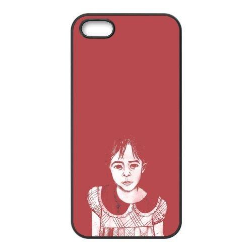 C8V31 rouge V6J7BK coque iPhone 5 5s cellule de cas de téléphone couvercle coque noire DM1MHT3VL