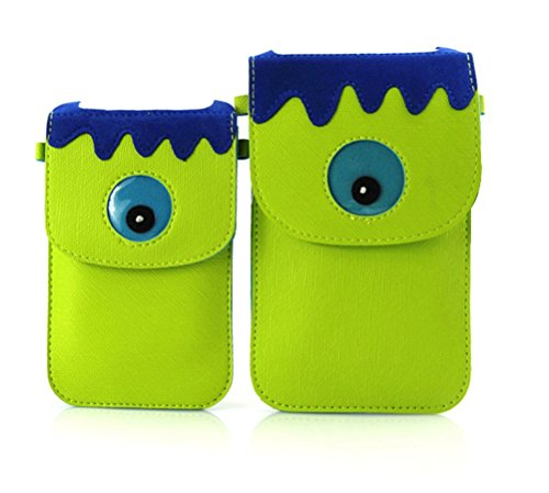 Dreams Mall 3D Animal Pattern Mini Shoulder Bag Cellphone Pouch Case Purse Wallet for Smartphone-Fluorescent Green