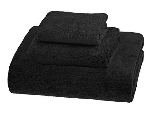 - MYLSMPLE Simplife Luxury Microfiber Extra Large Bath Towels Beach Bath Sheets Fast Drying Towels Soft Absorbent Towels Set (Black Set) ¡