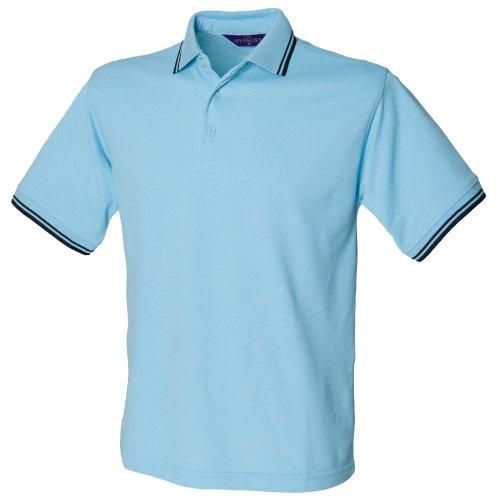 Henbury Herren Polo Shirt Tipped (2XLarge) (Rot/Weiß)