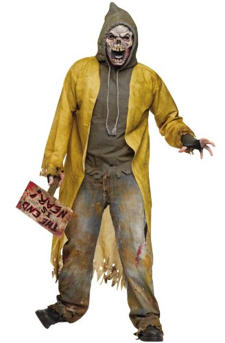 Homeless Costumes (FunWorld Street Zombie Complete, Black/White, One Size Costume)