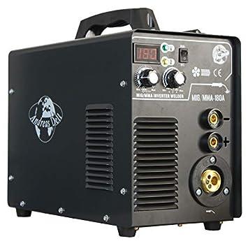 Mig Mag / Mma - 180 Igbt Inverter 230V Máquina Soldadora Máquina de Soldadura Careta Soldar/Hammer Accesorio: Amazon.es: Bricolaje y herramientas