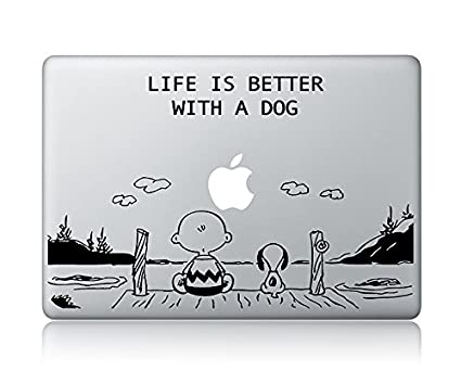 Charlie Brown And Snoopy Quote (V2) Apple Macbook Laptop Vinyl Decal  Sticker skin