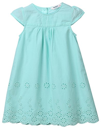 Beebay Turquoise Cotton Eyelet A-Line Dress from (Turquoise, -