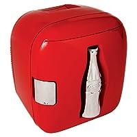 Mini refrigeradora Koolatron KWCXJ6 Coca-Cola con capacidad para 9 latas, roja