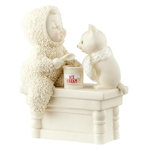 "Department 56 Snowbabies ""A Scoop To Soothe The Soul"" Porcelain Figurine, 4.2"""