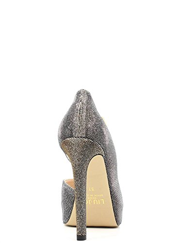 Liu Jo escisión mujer Zapatos Open Toe Marise tacón 12 Pl 2,5 Negro / Oro (Plateado) Negro