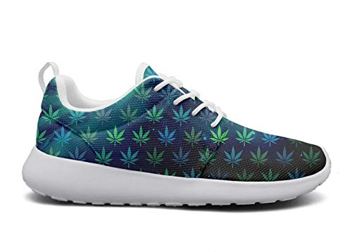 Cannabis seeds autoflower Men's lightweight Athelitic Running shoes lace-up breathable fashion sneakers
