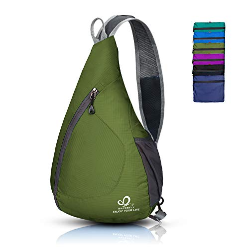 - Waterfly Packable Shoulder Backpack Sling Chest Crossbody Bag Cover Pack Rucksack for Bicycle Sport Hiking Travel Camping Bookbag Men Women