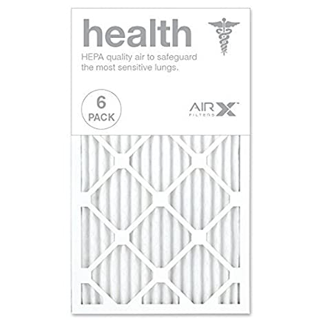 AIRx HEALTH 16x16x1 MERV 13 Pleated Air Filter - Made in the USA - Box of 6 HEALTH-161601-6