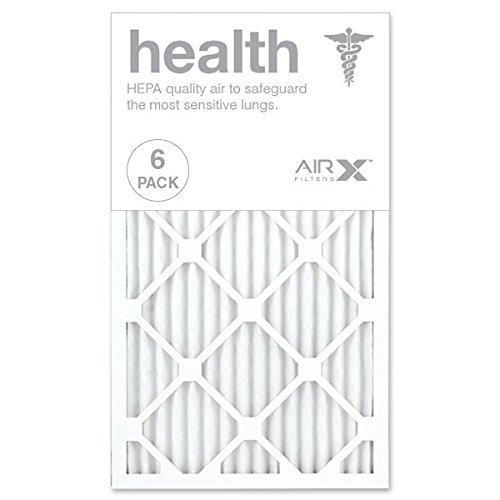 (AIRx HEALTH 14x24x1 MERV 13 Pleated Air Filter - Made in the USA - Box of 6)