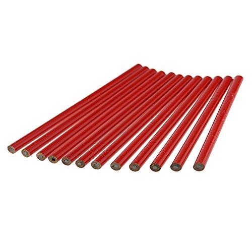 Crayon de charpentier x 12 rouge 180 mm Beast