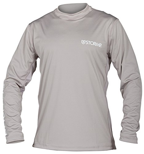- Stormr UV Shield Long Sleeve Performance Shirt-Lightweight Sun Protective Clothing Helps Block Harmful UV Exposure-Moisture Wicking, Quick-Drying and Stain Release Material - Smoke, M