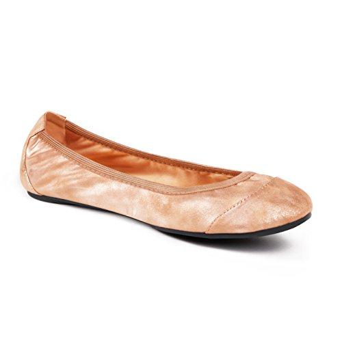 Barbican Pumps Cocorose Rose Foldable Shoes Gold Ladies Ballet Shimmer Enwxf6qU