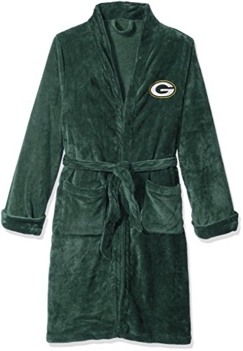 The Northwest Company Officially Licensed NFL Green Bay Packers Men's Silk Touch Lounge Robe, Large/X-Large