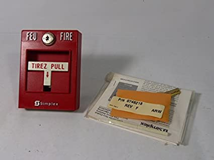 simplex 2099 manual fire alarm pull station with key smoke